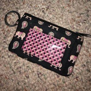 Vera Bradley zip ID case.